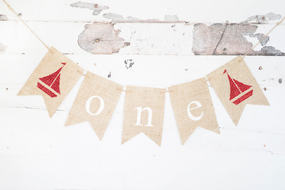 Sailboat One Banner | Nautical First Birthday Party Decor
