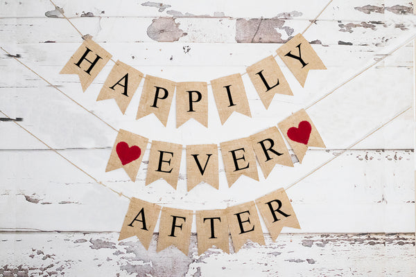 Happily Ever After Banner | Wedding or Engagement Party Decor