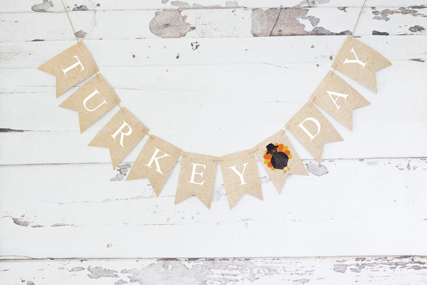 Turkey Day Banner | Thanksgiving Decorations