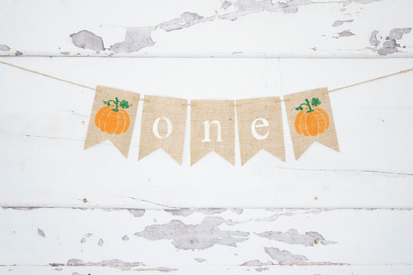 1st Birthday Decor, Pumpkin One Banner
