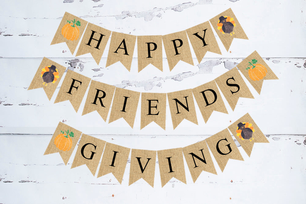 Happy Friendsgiving Banner | Thanksgiving Decorations