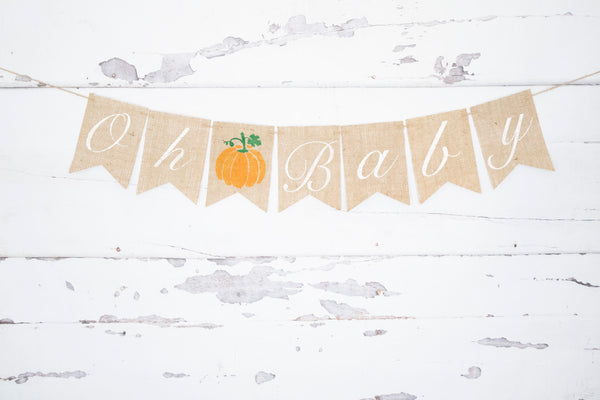 Baby Shower Pumpkin Decor, Oh Baby Banner