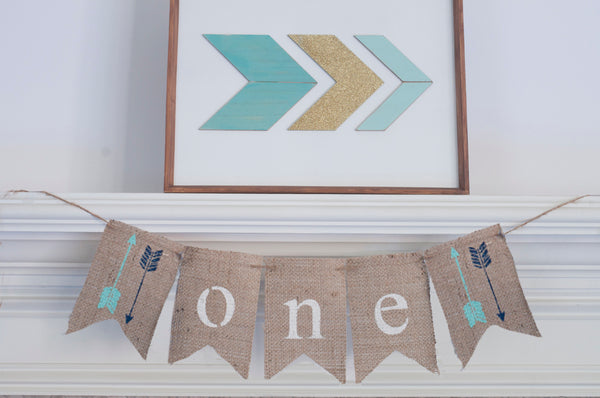 Arrows One Banner | Tribal First Birthday Party Decor