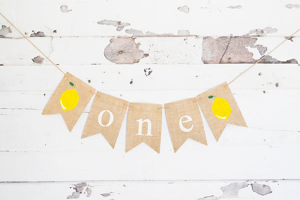 Lemon One Banner | Summer 1st Birthday Party Decor