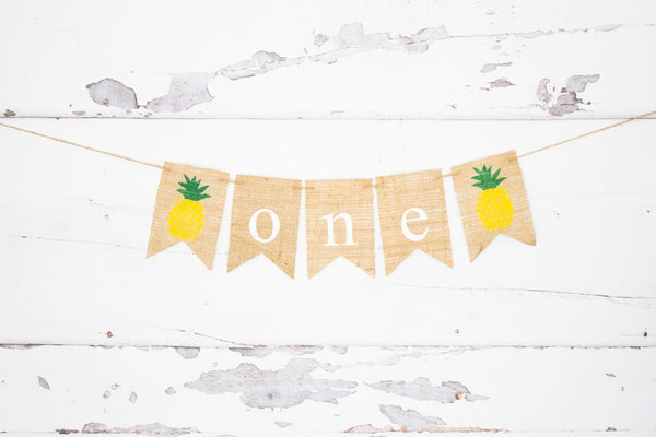 Pineapple One Banner for 1st Birthday Party Decoration