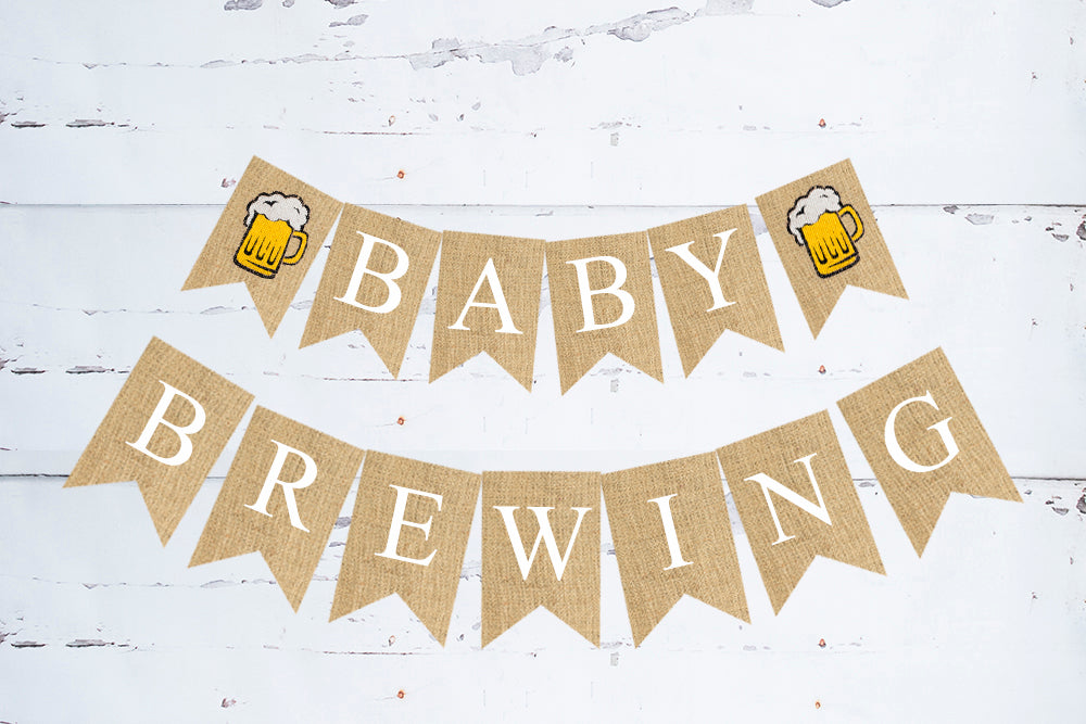 Baby Brewing Banner | Baby Shower or Gender Reveal Party Decor