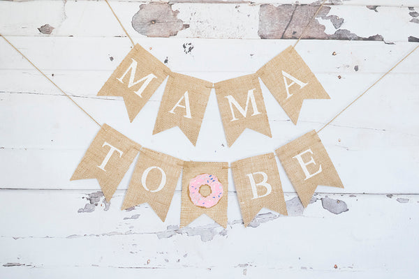 Pink Donut Mama to Be Banner | Donut Baby Shower Decorations