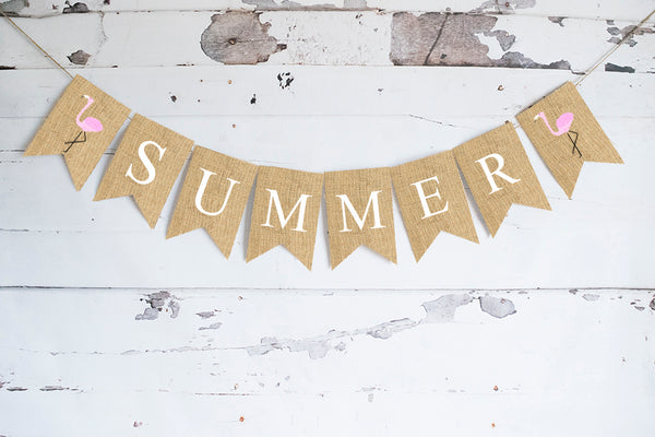 Flamingo Summer Banner | Pool Party Decorations