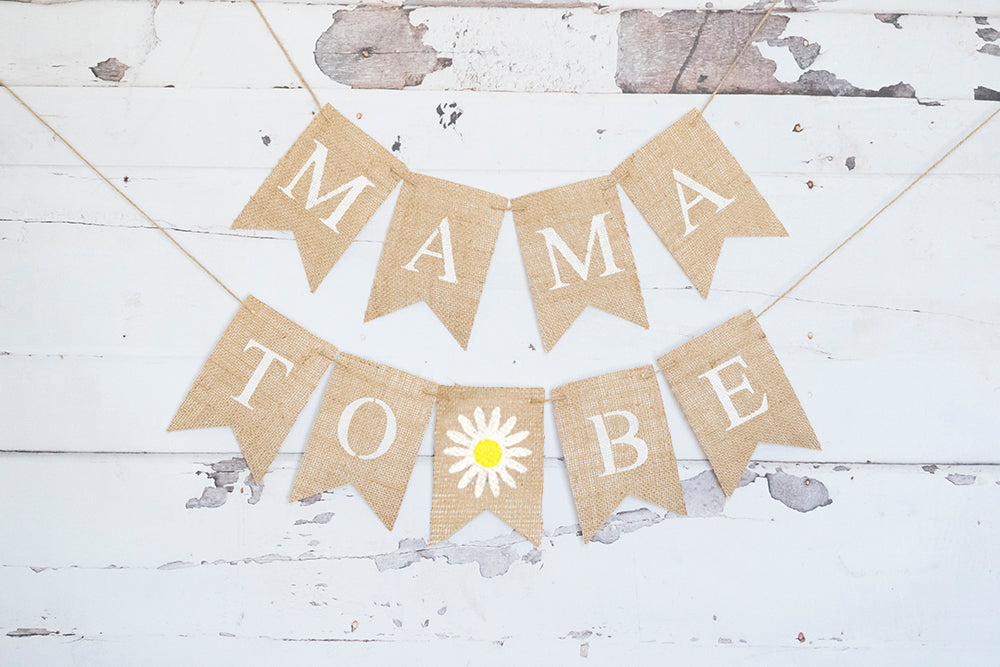 Daisy Mama to Be Banner | Baby Shower Decor