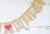 Baby Shower Decor, It's A Girl Heart Banner