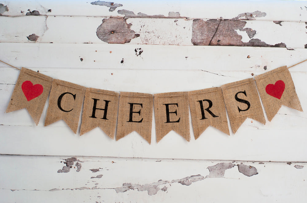 New Year Decor, Cheers Banner