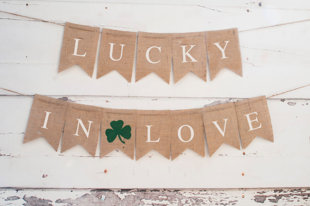 St. Patrick's Day Decor, Lucky In Love Banner