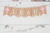 Religious Decor, Cross Personalized Banner