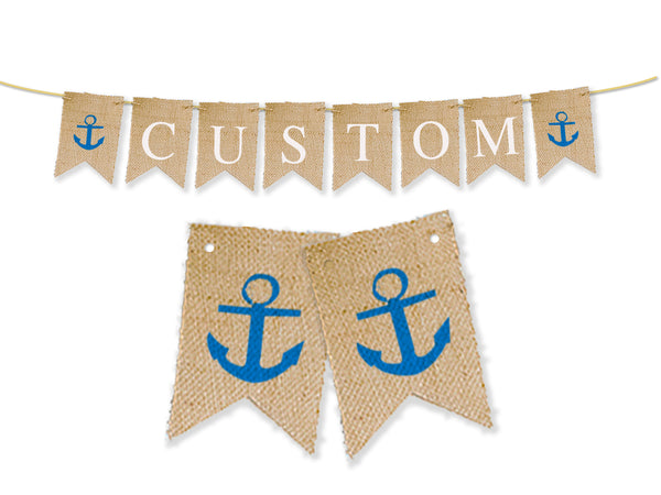 Custom Nautical Decor, Personalized Anchor Banner