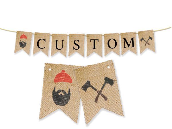 Custom Lumberjack Decor, Personalized Banner