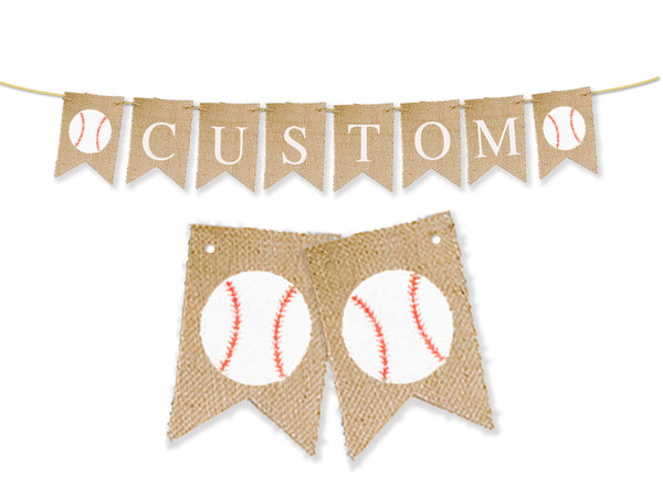 Personalized Baseball Banner | Custom Sports Decorations