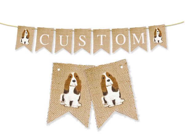 Hound Dog Personalized Banner | Custom Pet Birthday Party Decorations