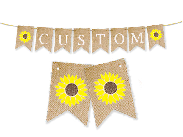 Personalized Sunflower Banner | Custom Summer Party Decor