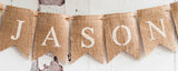 Lumberjack Decor, Bear Paw Personalized Banner