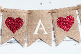 Baby Shower Decor, It's A Boy Heart Banner