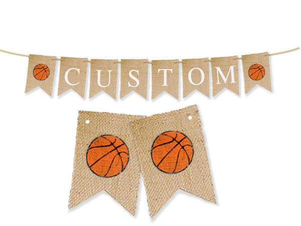 Custom Sports Decor, Basketball Personalized Banner