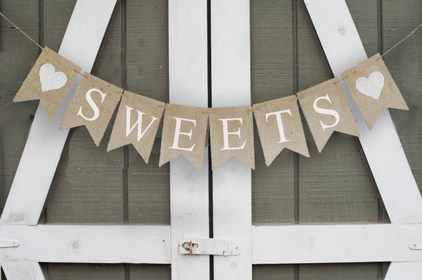 Wedding Decor, Sweets Table Banner