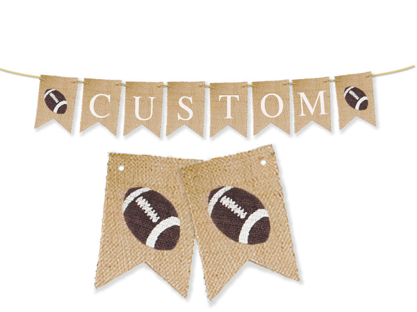 Custom Sports Decor, Football Personalized Banner