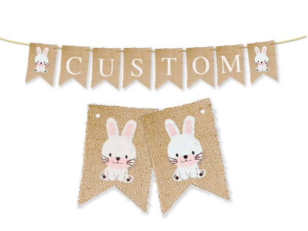 Custom Easter Decor, Bunny Personalized Banner