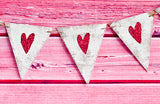 Valentine's Day Decor,  Rustic White Heart Banner