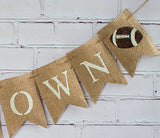 Sports Decor, Touchdown Football Banner