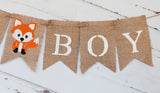 Baby Shower Fox Decor, It's A Boy Banner