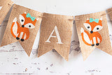 Baby Shower Woodland Decor, It's A Girl Fox Banner