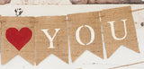 Mother's Day Decor, We Heart You Mom Banner