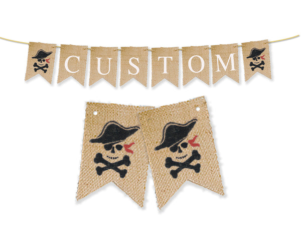 Custom Pirate Decor, Personalized Banner