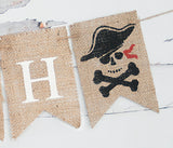 Pirate Decor, Personalized Banner
