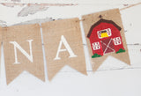 Farm Decor, Barn Personalized Banner