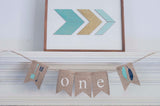 1st Birthday Decor, Tribal One Banner