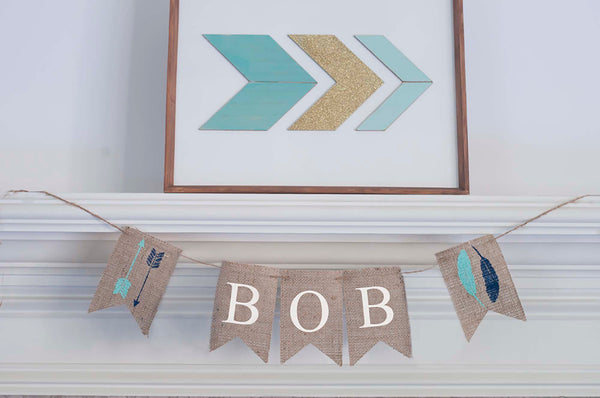 Tribal Decor, Tribal Personalized Banner