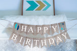 Tribal Decor, Happy Birthday Banner