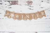 Winter Decor, Hello Winter Banner