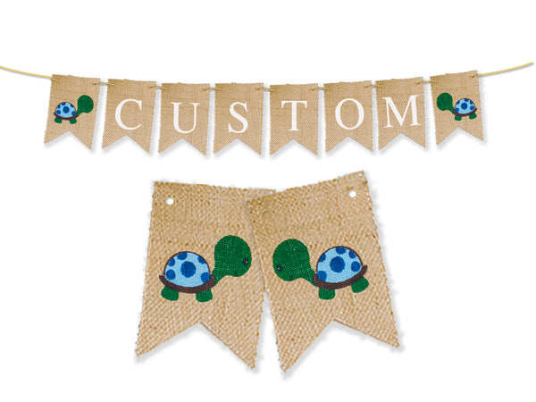 Custom Under The Sea Decor, Turtle Personalized Banner