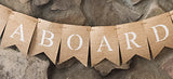 Nautical Baby Shower Decor, Welcome Aboard Banner