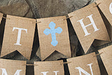 Religious Decor, First Holy Communion Blue Personalized Banner
