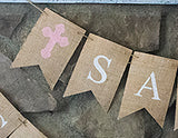 Religious Decor, Pink Confirmation Personalized Banner