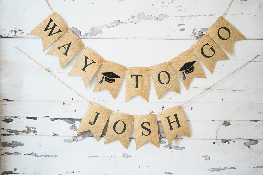 Graduation Decor, Way To Go Personalized Banner