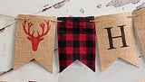 Birthday Decor, Lumberjack Happy Birthday Banner