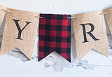 Baby Shower Decor, Welcome Baby Lumberjack Personalized Banner