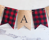 Baby Shower Decor, It's A Boy Lumberjack Banner