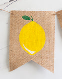 1st Birthday Decor, Lemon One Banner
