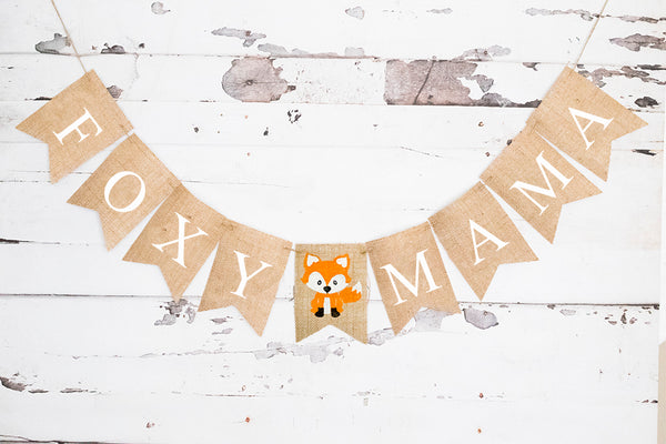 Baby Shower Decor, Woodland Foxy Mama Banner